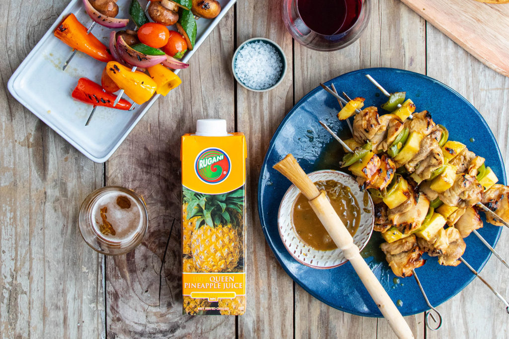 Chicken Thigh Skewers with Rugani Pineapple marinade